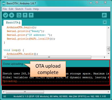 run ota from batch file